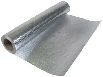 "Radiant Vapor Barrier Reflective Insulation 51"" 250 sqft Attic Foil Solid"