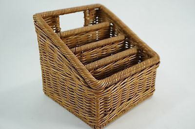 Wicker Woven Basket mail Letter in out box holder office desk organizer