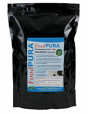 Food PURA® 500g CODEX Human FOOD Grade Diatomaceous Earth PERU Freshwater DE