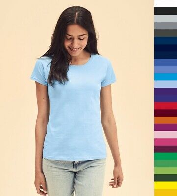 5er Pack Damen T-Shirt Fruit of the Loom Lady-Fit Valueweight T Öko-Tex 61-372-0