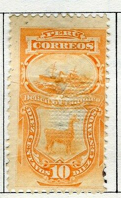 PERU;  1890s early classic issue fine used 10c. value