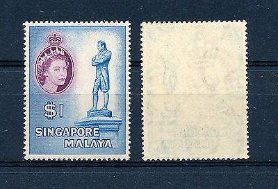 Singapore 1955 Definitives Sg50 $1 Mnh