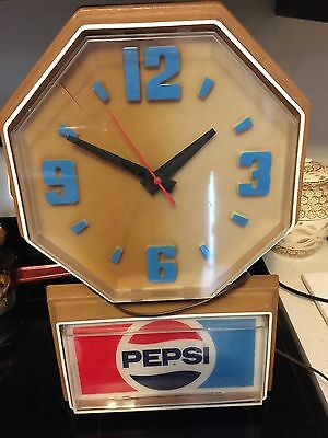 Large Retro Pepsi Wall Clock Antique