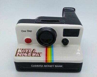 Polaroid Land Camera 1000 OneStop w/rainbow stripes. shaped MONEY BANK