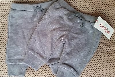 Cat and Jack baby boy pants jogger heather gray comfortable 2 pairs lot Size NB
