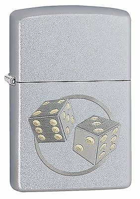 Zippo Windproof Lighter With Dice, Lucky Seven, 29412, New In Box