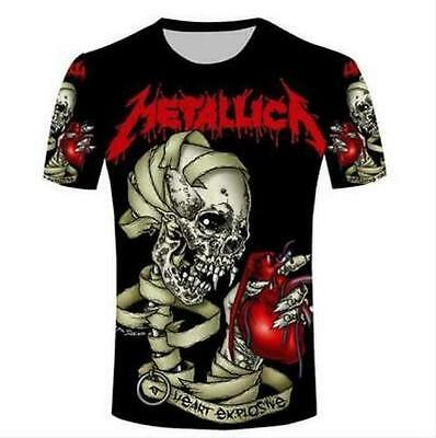 New Fashion Womens/Mens Metallica Rock Band Funny 3D Print Casual T-Shirt