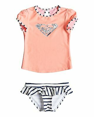 NEW ROXY™  Girls 2-7 Morning Light Short Sleeve Rash Vest Set Girls Surf