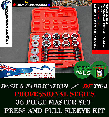 36 Pcs Master Set Press And Pull Sleeve Kit, Bearings Bushings Remove Install