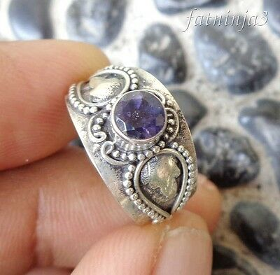 925 Balinese Traditional Design Pendant 38822 Amethyst Solid Silver