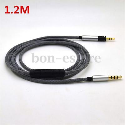 Audio Cable with Remote & Mic For all Sennheiser Momentum Over On-Ear Headphones