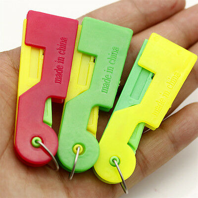 3PCS Lot Automatic Needle Threader Thread Guide Elderly Use Device Sewing