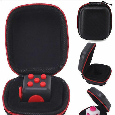 Fidget Cube Toy Stress Relief Carry Case Dice Bag gift for Adults Kids 6+ JU New