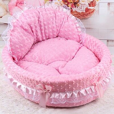 Pet Bed Kennel Puppy Cat Dog Soft Sleeping Cushion Nesting Sofa Mat Padded House