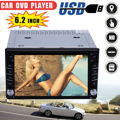 "6.2"" 2 Din Touch Car Radio Stereo DVD GPS Bluetooth Navigation MP5 USB/TV Player"