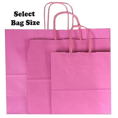 Light Pink Paper Gift Bags ~ Boutique Shop Bag ~ Pick Size Small Medium Large