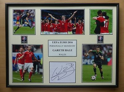 Euro 2016 Gareth Bale Signed Wales Signed Multi Picture Display (10311)