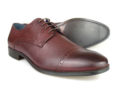 8df0843af3318 Silver Street London Garrick Oxblood Leather Formal Gibsons RRP £60 Free UK  P&P