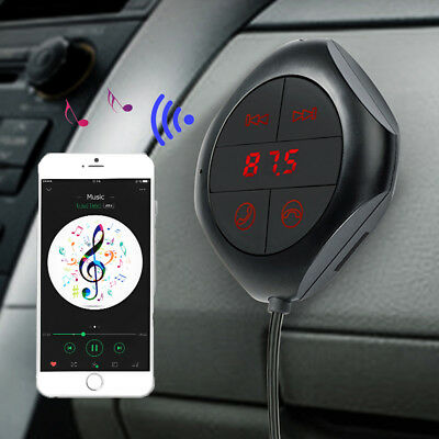 Bluetooth Audio Music Receiver FM Transmitter Car Mic Handsfree Adapter MA1088