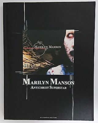 """Band Score Book """"Marilyn Manson ANTICHRIST SUPERSTAR"""" with TAB 2002 JAPAN"""