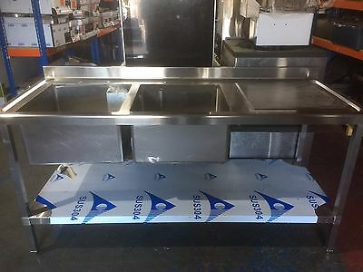 Stainless Steel Commercial Double Bowl 1800mm Sink
