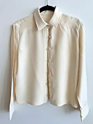 Vintage Antique White Blouse With Pleated Back Women's size Small