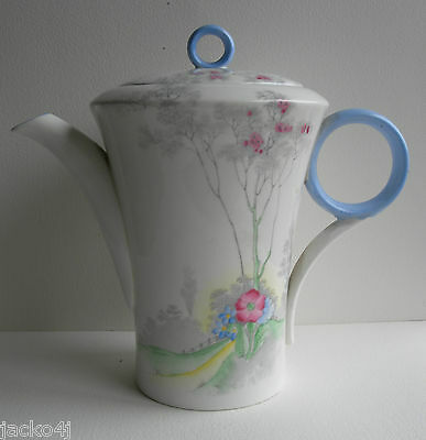 Nice Shelley For Lawleys Regent Shaped Cherry Blossom Coffee Pot & Lid Ws 0148
