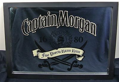 Captain Morgan 1680 Original Rum Wall Mirror Sign for Bar Man Cave Pirates