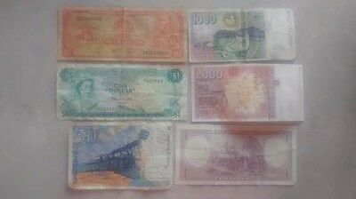 Foreign Currency Bank Note Lot 6 Bills vintage Antique RARE