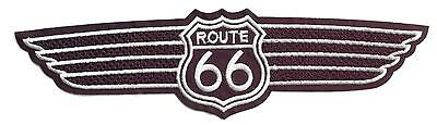 Aufnäher Patch American Highway ROUTE 66 USA Wings groß XL  21,5 cm