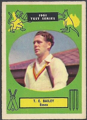 A&BC-CRICKET ERS 1961 TEST SERIES (90MMx64MM)-#22- ESSEX - TREVOR BAILEY