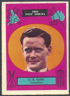 A&BC-CRICKET ERS 1961 TEST SERIES (90MMx64MM)-#33- YORKSHIRE - BRIAN CLOSE