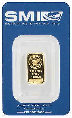 1 Gram Gold Sunshine Mint Bar (A059891)