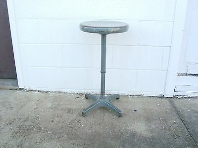 Vintage AJUSTO SWIVEL STOOL Telescoping Atomic mid century or Steampunk style ?