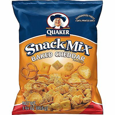 QUAKER Snack Mix Baked Cheddar 1.75 Ounce Pack of 64