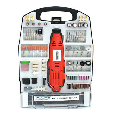 Voche® Mini Rotary Hobby Drill Combi Multi Grinder Tool Kit + 260Pc Accessories