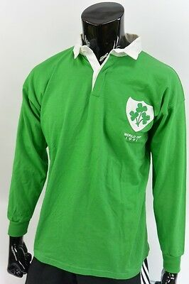 Umbro IRELAND (IRFU) World Cup 1991 Long Sleeve Rugby Shirt Jersey SIZE M adults