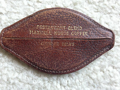 Maxwell House Coffee Coin Purse Vintage:Leather
