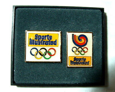 Olympic pin set Sports Illustrated from 1980's