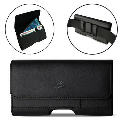 REIKO Leather Belt Clip Card Holder Case for Phones with Mophie Pack Cover on it