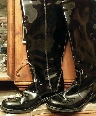 La Canadienne Black Patent Leather Tall Riding boots Sz 10 M  Style 16728