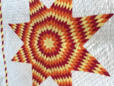"""LOVELY   VINTAGE LONE STAR  QUILT 80"""" x 88""""  GREAT VIVID COLORSS"""