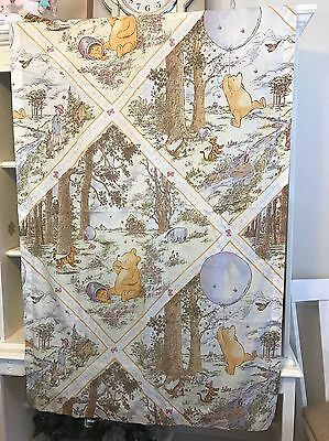 Classic WINNIE THE POOH Curtain Panel for Window Vintage Hunny Pots Baby Nursery