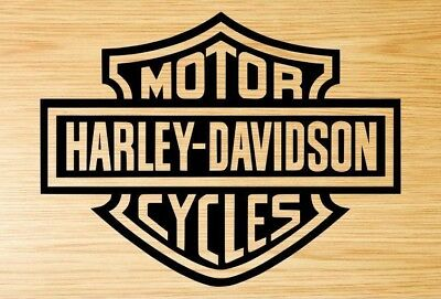 2x Harley Davidson motorcycle decal stickers in black