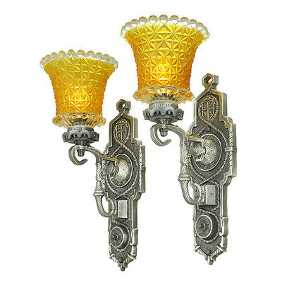 Pair of Antique Edwardian Wall Sconces Circa 1920s Lights Fixtures (ANT-763)