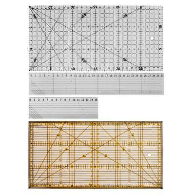 Acrylic Rulder Patchwork Ruler School Office Stationery Quilting Craft Tool