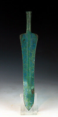 *SC* CHOICE & ATTRACTIVE WESTERN ASIAN BRONZE LANCE, 2nd mill BC!