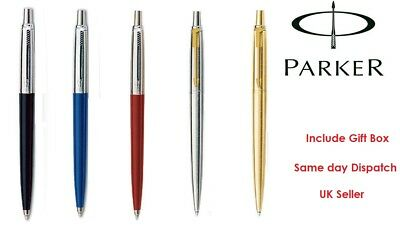 Parker Jotter Ballpoint Pen Blue Black Ink In Black / Blue / Red / Silver & Gold