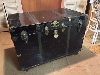 Antique Steamer Trunk, 1800s, Storage, Coffee Table: LOCAL PICK UP ONLY!