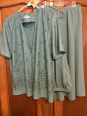 Alfred Dunner Size L - 3 Piece Green Set